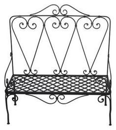 How to Paint Mesh Wrought Iron Furniture