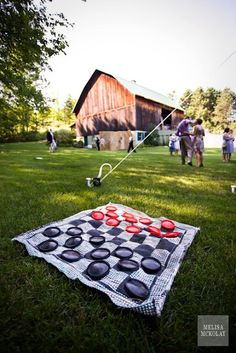 giant checkers & more- will be doing this at my wedding for the kids!