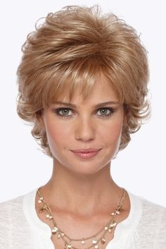 Mandy Synthetic Pure Stretch Cap Wig by Estetica Designs Wigs Hair Styles For Women Over 50, Short Hair Cuts For Women, Shag Hairstyles, Short Hairstyles For Women, Teenage Hairstyles, Short Hair With Layers, Short Wigs, Pixie Haircut, Human Hair Wigs
