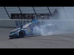 NASCAR Denny Hamlin into the wall at Pocono | 2013