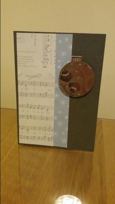 Music and bauble Xmas card
