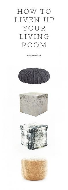 Poufs to liven up your living room.  http://www.recovetd.com | RECOVETD #summer #vibes #currentlycoveting