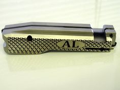 AL Initial Custom Bolt. This option works really well if you have a short name or if you want to go for a 3 letter nickname! Save money and still pretty custom!   #jwhcustom #jwh #bolt #cnc #laserengraved #custombuild #rifle #rifle1022 #riflebuild #custom1022 #ruger #ruger1022 #customruger #AL #initials #scalloped #initialbolt