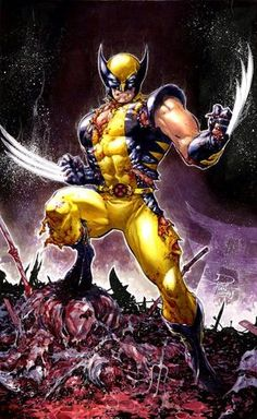 Wolverine ( X-Men ) // Marvel // Art Wolverine Comics, Marvel Dc Comics, Logan Wolverine, Marvel Vs, Marvel Heroes, Logan Xmen, Wolverine Images, Comic Book Characters, Comic Book Heroes