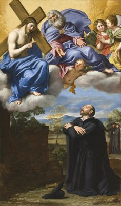 Saint Ignatius of Loyola's Vision of Christ and God the Father at La Storta by Domenichino