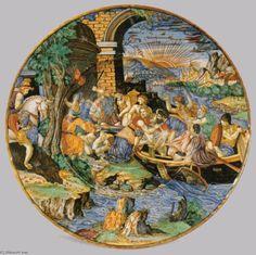 'piatto', 1537 di Francesco Xanto Avelli (1487-1542, Italy)