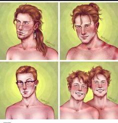 Bill, Charlie, Percy, Fred and George.