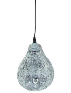 Arabische gaatjeslamp Trio Leuchten Jasmin lichtgrijs Ø19 cm - Hanglampen