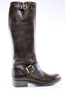 Womens knee length boots in dark brown by Wills London