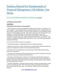 solution manual for financial institutions management a risk rh pinterest com Fundamentals of Management Smith Fundamentals of Case Management 5th Edition