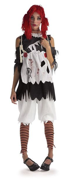 Gothic Female Rag Doll Adult Costume