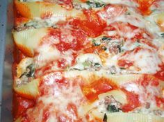 Stuffed Pasta Shells For Meat-Lovers Recipe - Food.com: Food.com