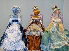 Victorian Dolls, Victorian Traditions, The Victorian Era, and Me: My Victorian Paper-Clay Bird Dolls