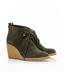 Tory Burch, Vicki Suede Mid Wedge Bootie. So cute for fall.