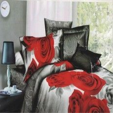 Cheap Printed Aster Bed Sheet Designer Bed Sheets, 3d Bedding Sets, Romantic Roses, Quilt Cover, Flat Sheets, Duvet Cover Sets, Print Patterns, Aster, Printed