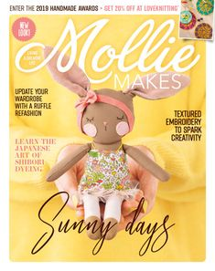 Inside This Issue Of Mollie Makes: Pom Pom Maker Kit! 5 Projects To Try! 82 New Season Treats. Inside this issue of Mollie Makes: 82 new season treats. Mollie Makes, Spring Projects, Spring Crafts, Abstract Embroidery, Crochet Placemats, Pom Pom Maker, Craft Online, Craft Shop, Creative Inspiration