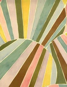 Lili Sanchez painting, I think you could make a really cool quilt from this!