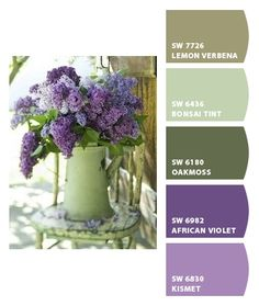 ❤ =^..^= ❤ Chip It! by Sherwin-Williams – Lilacs: plant these by your back door .....