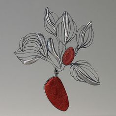 Kyunghee Kim, Gardem in October Sterling, coral Stylish Jewelry, Modern Jewelry, Stone Jewelry, Jewelry Art, Jewelry Design Drawing, Handmade Silver Jewellery, Jewelry Illustration, Jewellery Sketches, Silver Work