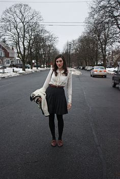 Middle of the street. by allthishappiness,   i would wear the entire outfit in a second.