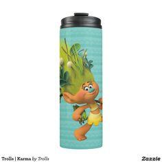 Trolls   Karma. Regalos, Gifts. Producto disponible en tienda Zazzle. Product available in Zazzle store. Link to product: http://www.zazzle.com/trolls_karma_thermal_tumbler-256324996904431347?CMPN=shareicon&lang=en&social=true&rf=238167879144476949 #bottle #botella #trolls
