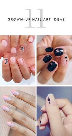 Discover 11 totally grown-up nail art designs you can wear every day.