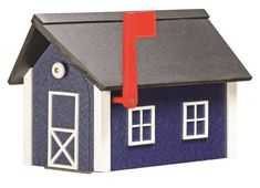 Amish Poly Mailbox Cute little barn made with ultra durable poly lumber. This mailbox makes a great gift or go ahead and treat yourself!