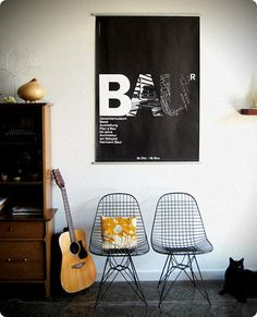 love the colors and the eames chairs