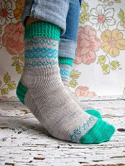 This pattern is another great way to use up small remnants of yarn from other projects - and if you're a habitual sock knitter, we know you'll have plenty.
