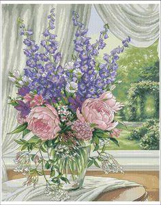 Скачать схему - Цветы, флора