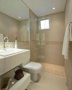 Boa noite! Depois de alguns probleminhas técnicos, estamos de volta com as postagens regulares. Sorry! E reabrindo os trabalhos, que tal esse banheiro pequeno clean e aconchegante? Achei lindo e elegante! Uma ótima inspiração. 📷 Pinterest #blogumeuminiape #meuminiape #inspiração #apartamentospequenos #banheiro #banheiropequeno #lavabo #decoração