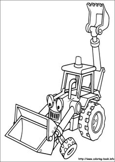 Bob the builder construction coloring pages Truck Coloring Pages, Coloring Book Pages, Printable Coloring Pages, Coloring Sheets, Free Coloring, Coloring Pages For Kids, Adult Coloring, Kids Coloring, Bob The Builder