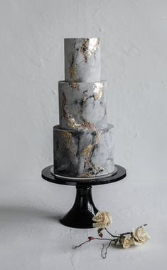 amazing wedding cakes marble wedding cakes Aissa and Kevins mixed metal/concrete effect wedding cake. You are in the right place about Wedding Cake vintage Here we of Amazing Wedding Cakes, Amazing Cakes, Grey Wedding Cakes, Gold Wedding, Floral Wedding, 2 Tier Wedding Cakes, Unusual Wedding Cakes, Metallic Wedding Cakes, Crazy Wedding