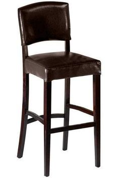 Leather Breakfast Bar Stool with Back - Leather Chairs - Seating - Bar Stools   HomeDecorators.com