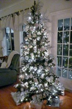 White And Silver Christmas Tree Design Pictures Remodel Decor Ideas