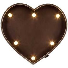 Galvanized Metal LED Marquee Heart