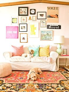 eclectic colorful decor of everygirl