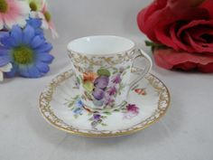 Vintage Hand Painted Dresden China Miniature by SecondWindShop, $55.00