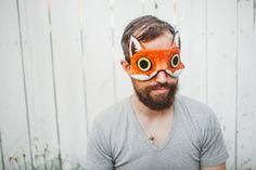 Renard roux Masque de sommeil AJUSTABLE en velours | Pour les voyages, les quarts de travail, la méditation et pour soulager les migraines.
