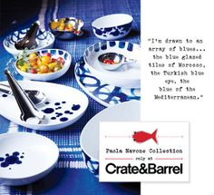 "Paola Navone's ""como"" blue and white, from C&B"