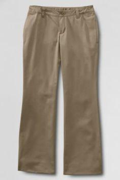 70030e2722f School Uniform Iron Knee® Boot-cut Blend Chino Pants from Lands  End oak  hall