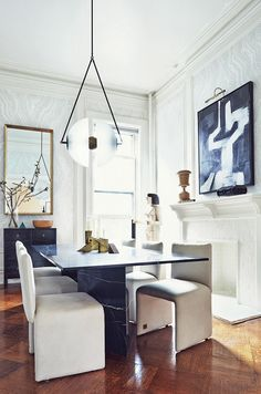 dining room belonging to apparatus founders via coco kelley
