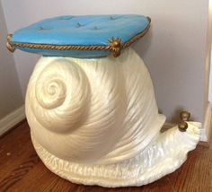 Vintage Italian Snail Side Table