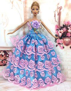 """Pas cher NK Un Pcs 2016 Princesse Robe De Mariage Noble Partie Robe Pour Barbie Poupée De Mode Conception Tenue Meilleur Cadeau Pour Fille """"Poupée 023A, Acheter Poupées Accessoires de qualité directement des fournisseurs de Chine:NK One Pcs 2016 Princess Wedding Dress Noble Party Gown For Barbie Doll Fashion Design Outfit Best Gift For Girl' Doll 0"""