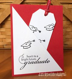Graduation Card with a Diagonal Pocket to add cash, a gift card or a bookmark to give with a book.