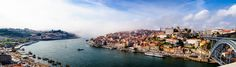 Porto Portugal from across the Douro River in Gaia [5000x1423] || Click on the photo to discover the most incredible destinations with us :)