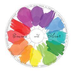 Perfect Match Wedding Color Wheel Invitations