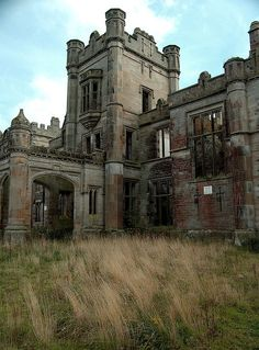 Abandoned castle in Scotland.