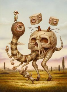 ☆ Lost and Found.。Art By :→: Naoto Hattori ☆ Fantasy Kunst, Dark Fantasy Art, Arte Horror, Horror Art, Art And Illustration, Painting Illustrations, Surreal Artwork, Surrealism Painting, Bizarre
