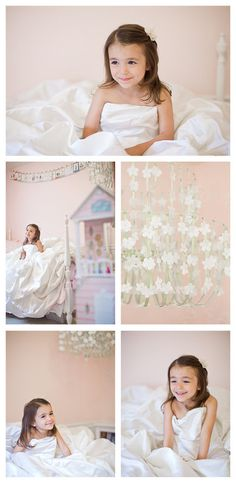 Oh my gosh I love this idea! Have your daughter play dress up in your wedding gown!  You will cherish these little girl moments forever. Seriously so cute! Could even show these photos on her big wedding day! <3 Melt!  Must do!